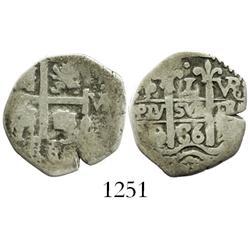 Potosi, Bolivia, cob 1 real, 1686VR.