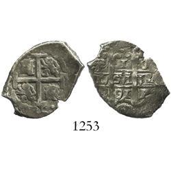 Potosi, Bolivia, cob 1 real, 1691VR.