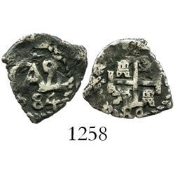Potosi, Bolivia, cob 1/2 real, 1684, ex-Sellschopp.