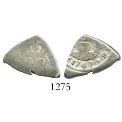 Guatemala, cob 1 real, 1747J.