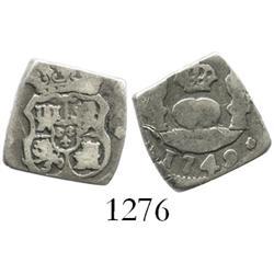 Guatemala, cob 1 real, 1749J.