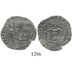 Seville, Spain, 1 real, Ferdinand-Isabel, assayer * on reverse.