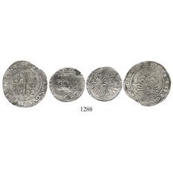 Lot of 2 Seville, Spain, 1R of Ferdinand-Isabel, various assayers.