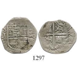Seville, Spain, cob 1 real, 1588, assayer Gothic D.