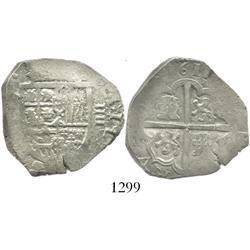 Seville, Spain, cob 4 reales, 1611, assayer not visible.