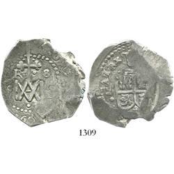 """Seville, Spain, cob 8 reales, """"Maria"""" type, 1694(M), rare."""