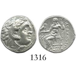 KINGS of MACEDON, silver drachm, Alexander III (the Great), 336-323 BC, Kolophon mint, ca. 319-310 B
