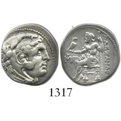 KINGS of MACEDON, silver drachm, Alexander III (the Great), 336-323 BC, Miletos mint, ca. 290-275 BC