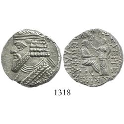 KINGS of PARTHIA, billon tetradrachm, Gotarzes II, 40-51 AD.