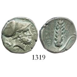 LUCANIA, Metapontion, silver nomos, 334-330 BC.
