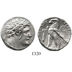 PHOENICIA, Tyre, silver shekel, biblical  30 pieces of silver,  126/5 BC to AD 65/6, dated CY 27 (10