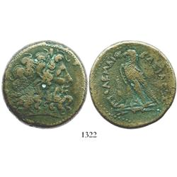 PTOLEMAIC KINGS of EGYPT, bronze AE 42 mm, probably Ptolemy II, Philadelphos, 285-246 BC.