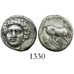 THESSALY, Larissa, silver drachm, 350-325 BC.