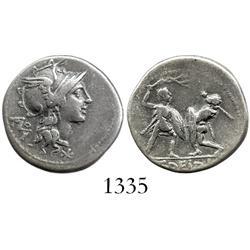 Roman Republic, silver denarius, moneyer T. Didius, 113-112 BC.