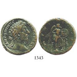 Roman Empire, bronze sestertius, Marcus Aurelius, 172-173 AD.