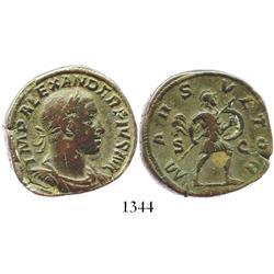 Roman Empire, bronze sestertius, Severus Alexander, 222-235 AD.