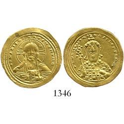 Byzantine Empire, gold solidus, Constantine VIII, 1025-28 AD.