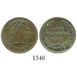 Antigua & Barbuda, bronze farthing, 1836.