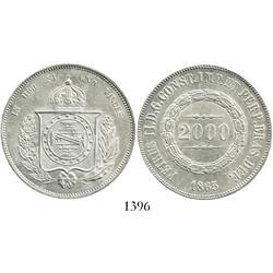 Brazil, 2000 reis, 1865.