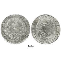 Santiago, Chile, 8 reales, 1839IJ.