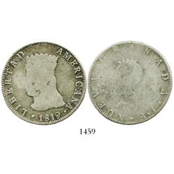 Bogota, Colombia, 8 reales, 1819JF.