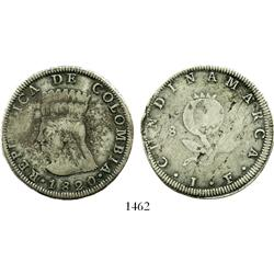 Bogota, Colombia, 8 reales, 1820JF.