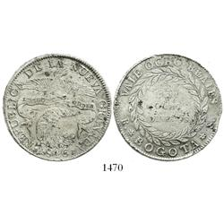 Bogota, Colombia, 8 reales, 1846RS.