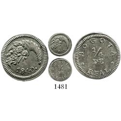 Bogota, Colombia, 1/4 real, 1840.