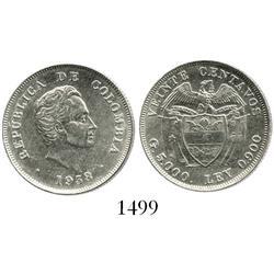 Bogota, Colombia, 20 centavos, 1938/1, scarce.