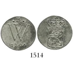 Dutch West Indies, 2 stuivers, 1794.