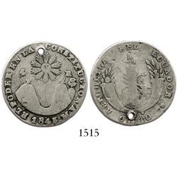 Quito, Ecuador, 4 reales, 1843MV.
