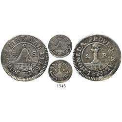 El Salvador, 1 real, 1835-SS (San Salvador), rare.