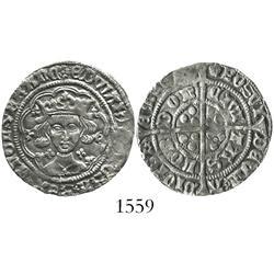 England (London mint), groat, Edward IV (1461-70), mintmark rose (1464-5), quatrefoils at neck.