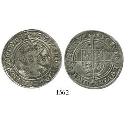 England (London mint), shilling, Edward VI (1547-53), mintmark tun (1551-3).