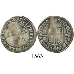 London, England, groat, Philip and Mary (1554-8).