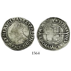 London, England, shilling, Elizabeth I (1558-1603), second issue, mintmark martlet (1560-1).