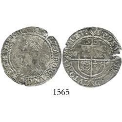 London, England, sixpence, Elizabeth I, 1602.