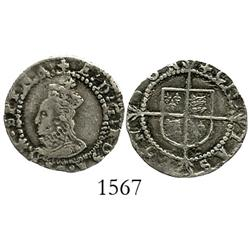 London, England, penny, Elizabeth I (1558-1603), 4th issue, mintmark Greek cross (1578-82).