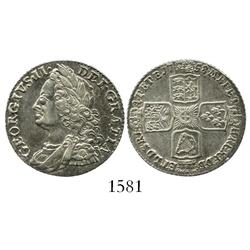 London, England, shilling, George II, 1758.