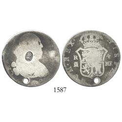England (Bank of England), half dollar, countermark (bust of George III) on a Spanish 4 reales (Madr