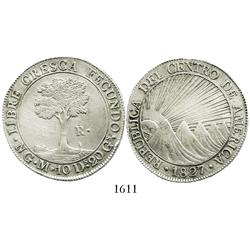 Guatemala, Central American Republic, 8 reales, 1827M.