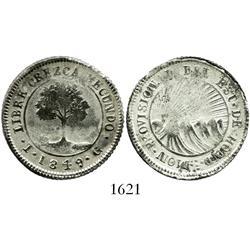 Honduras (Tegucigalpa), 4 reales, 1849-TG.