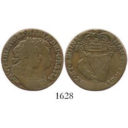 Ireland, copper half penny, William and Mary, 1693.
