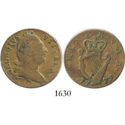 Ireland, copper half penny, George III, 1775.
