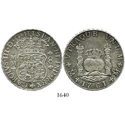 Mexico City, Mexico, pillar 8 reales, Charles III, 1761MM.