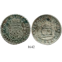 Mexico City, Mexico, pillar 4 reales, Philip V, 1740/30MF.