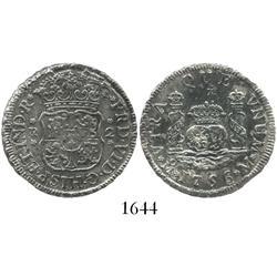 Mexico City, Mexico, pillar 2 reales, Ferdinand VI, 1756M.