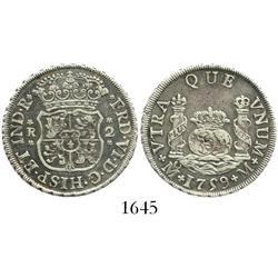 Mexico City, Mexico, pillar 2 reales, Ferdinand VI, 1759M.