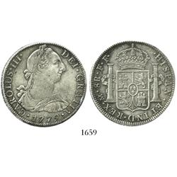 Mexico City, Mexico, bust 8 reales, Charles III, 1779FF.