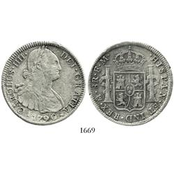 [ Withdrawn ] Mexico City, Mexico, bust 8 reales, Charles IV, 1790FM, non-transitional, unique.